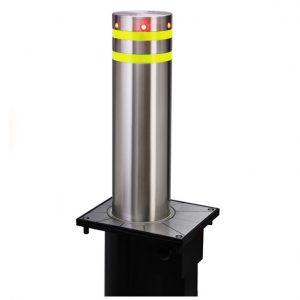 Assisted Lift Manual Retractable Bollards Stainless Steel